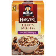 Quaker Harvest Hearty Medleys, Fruit & Nut Omega 3 (216g)  - Urbery