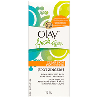 Olay Fresh Effects Clear Skin Spot Zinger 2-in-1 Salicylic Acid Acne Treatment (15mL)  - Urbery