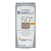 L'Oreal Ombrelle Ultra Light Advanced Body Lotion, SPF 50+ (120mL)  - Urbery