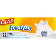 Glad Tall Kitchen Bags Force Flex (22ea)  - Urbery