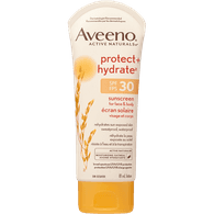 Aveeno Protect + Hydrate Sunscreen Lotion, SPF 30 (81mL)  - Urbery