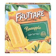 Fruttare Ice Cream Popsicle Pineapple (6X60ML)