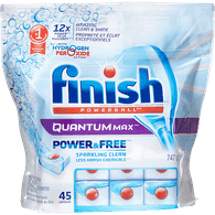 Finish Quantum Max Power & Free Dishwasher Detergent Capsules with Hydrogen Peroxide (45ea)  - Urbery