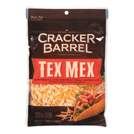 Cracker Barrel Shredded Cheese Tex Mex (320g)