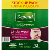 Depend Underwear for Women, Maximum Absorbency S/M (64 ea)