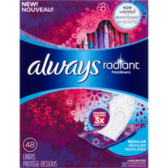Always Radiant Daily Liners (48ea)  - Urbery