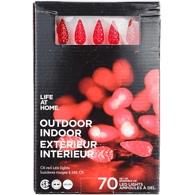 Life At Home Outdoor lights C6 LED Red Lights (Set of 70)  - Urbery