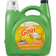 Gain High Efficiency Liquid Detergent, Sunflower & Sunshine (4.43L)  - Urbery