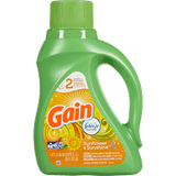 Gain High Efficiency Liquid Detergent, Sunflower & Sunshine (1.47L)