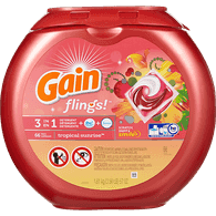 Gain Flings 3 In 1, Tropical Sunrise (66ea)  - Urbery
