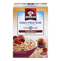 Quaker Protein Instant Oatmean, Tripleberry (228g)  - Urbery