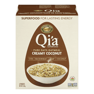 Nature's Path Organic Qi'a Hot Oatmeal, Creamy Coconut (228g)  - Urbery