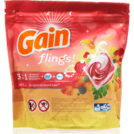 Gain Flings 3 In 1, Tropical Sunrise (14ea)  - Urbery