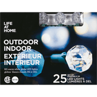 Life At Home Outdoor lights LED Crystal Lights (Set of 25)  - Urbery