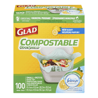 Glad Compostable Biodegradable (100ea)  - Urbery