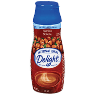 International Delight Coffee Creamer Toasted Hazelnut, Fat-Free & Sugar Free (473mL)