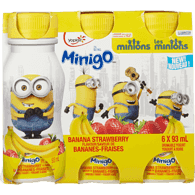 Yoplait Minigo Minion Yogurt Drink, Banana Strawberry (6x93mL)  - Urbery