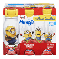 Yoplait Minigo Minion Yogurt, Strawberry (6x93mL)  - Urbery