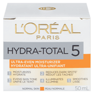 L'Oreal Hydra Total 5 Ultra-Even Toner, Combination Skin (50mL)  - Urbery