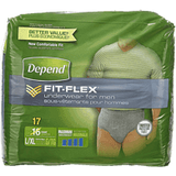 Depend Men Underwear, Maximum Absorbency Large/Extra Large (17 ea)