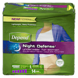 Depend Night Defense Underwear for Women, Large (14 ea)