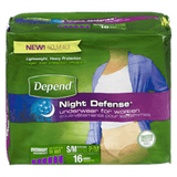 Depend Overnight Underwear, Small/Medium Women (16 ea)