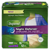 Depend Women's Underwear, Moderate Absorbency, Overnight Protection XL (12 ea)