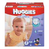 Huggies Little Movers Diapers, Size 3 (156 ea)