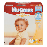 Huggies Little Snugglers Diapers, Club Pack Size 3 (156 ea)