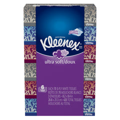 Kleenex Ultra Soft, 3 Ply (6 boxes)  - Urbery
