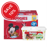 Bundled Savings - Huggies Snug & Dry Diapers Giga Pack, Step 2 (116 ea) + Huggies Natural Care Baby Wipes, Tub 64 (64 ea)