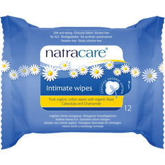 Natracare Organic Cotton Intimate wipes (12 e.a)  - Urbery