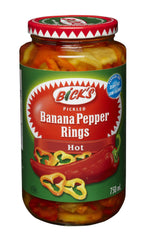 Bick's Banana Pepper Rings Hot (750ml)