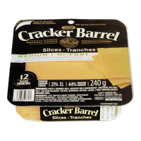 Kraft Cracker Barrel Cheese Slices Medium Light (240g)