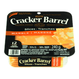 Kraft Cracker Barrel Cheese Slices Marble Cheddar (240g)