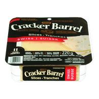 Kraft Cracker Barrel Cheese Slices Swiss (220g)
