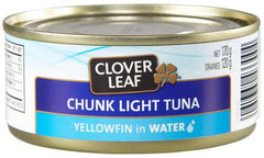 Clover Leaf Chunk Light Tuna Yellowfin in Water (170g)