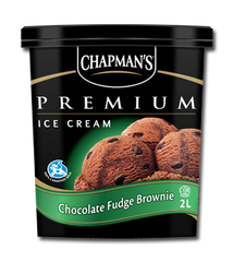 Chapman's Premium Ice Cream Tub Chocolate Fudge Brownie (2L)
