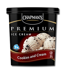 Chapman's Premium Ice Cream Tub Cookies and Cream (2L)