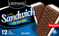 Chapman's Super Sandwich Ice Cream Vanilla (12 X 120 ml)