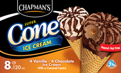 Chapmans Super Cone Ice Cream (8 X 120 ml)