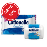 Bundled Savings - Cottonelle Clean Care (12 ea) + Cottonelle FreshCare Flushable Cleansing Cloths (42 ea)