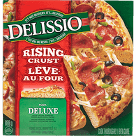 Delissio Rising Crust Pizza, Deluxe & Pepperoni (834g)