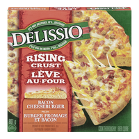 Delissio Rising Crust Pizza, Bacon Cheeseburger (801g)