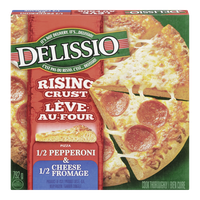 Delissio Rising Crust Pizza, Half Pepperoni & Half Cheese (792g)