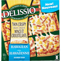 Delissio Thin Crispy Crust Pizza, Hawaiian (590g)