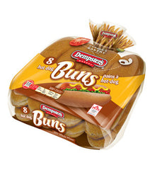 Dempster's Original Hot Dog Buns Whole Wheat (8 per pack)