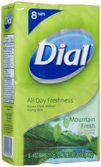 Dial Mountain Fresh All Day Freshness Soap (8 Bars)