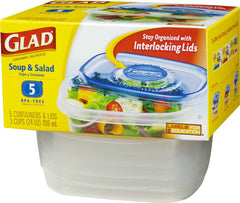 Glad Soup and Salad 5 Containers