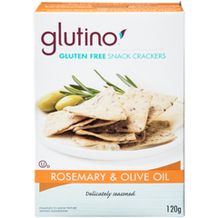 Glutino Gluten-Free Crackers Rosmary & Olive Oil (120g)